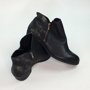 Lucky Brand Blare Ankle Boots Black Womens Size 12
